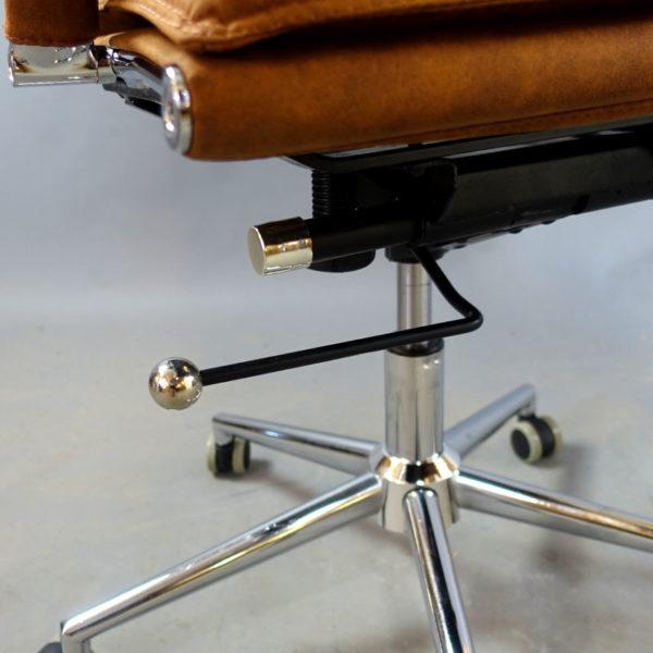 Konferensstolar brunt läder Chromas Tobacco