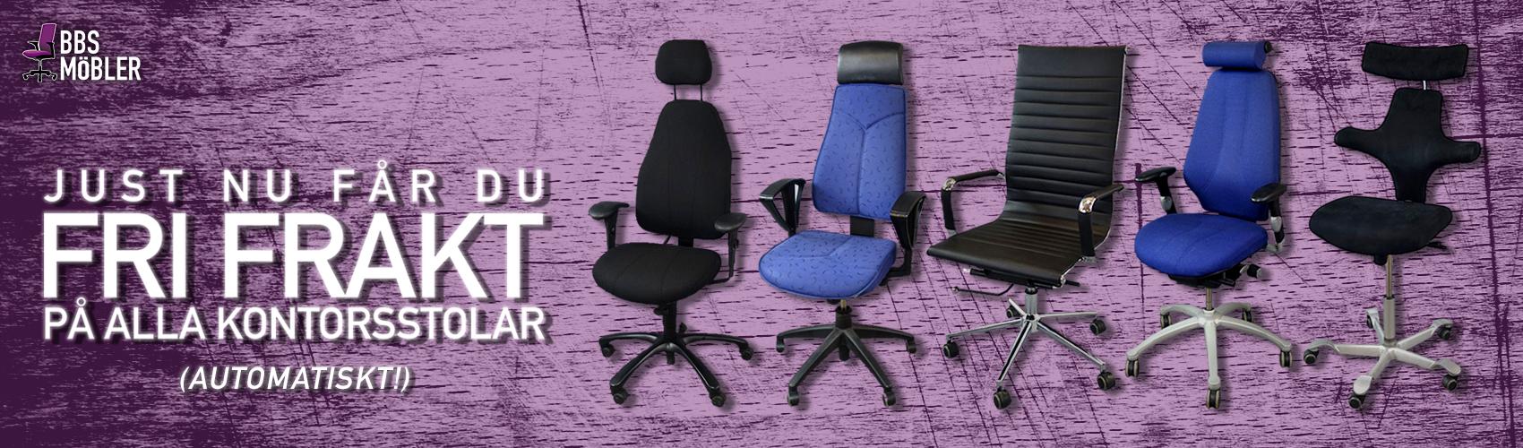 fri frakt på begagnade kontorsstolar arbetsstolar skrivbordsstolar