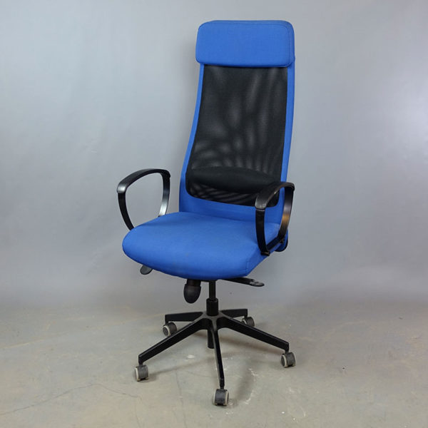 Begagnad kontorsstol Markus blå