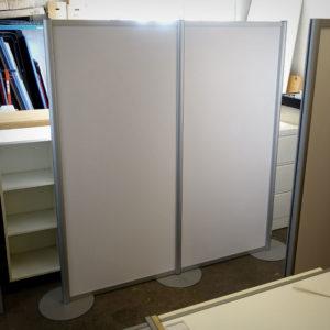 Begagnad golvskärm vit 190 cm - Begagnad golvskärm vit 160 cm