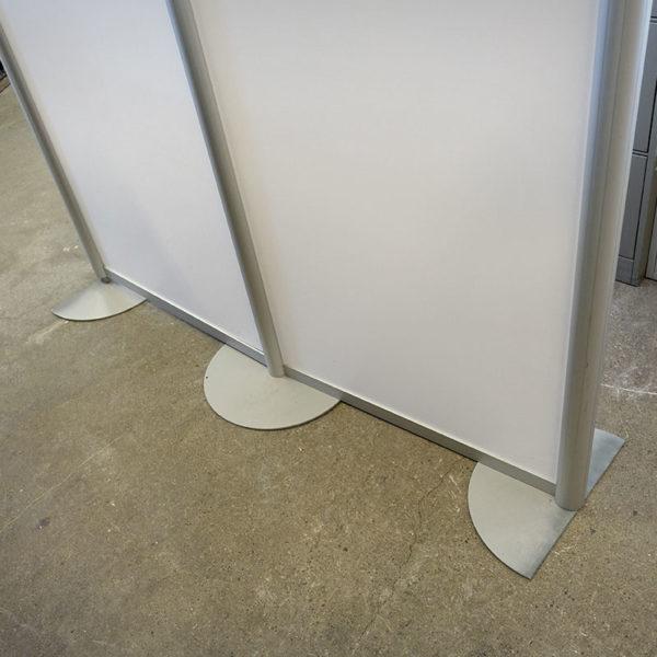 Begagnad golvskärm vit 160 cm