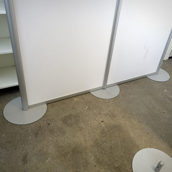 Begagnad golvskärm vit 190 cm
