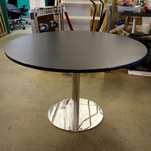 Begagnat svart cafébord 120 cm