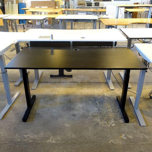 Begagnat elbord svart 160x80 cm