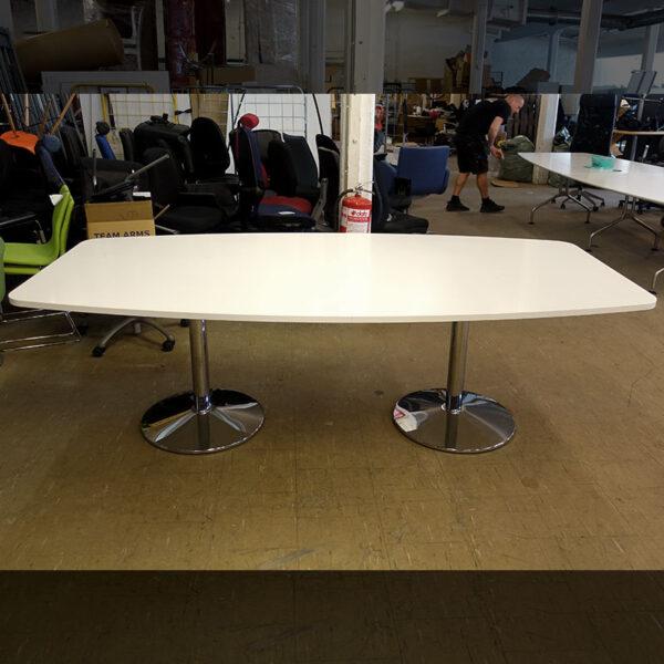 Begagnade båtformade konferensbord 240x120 cm