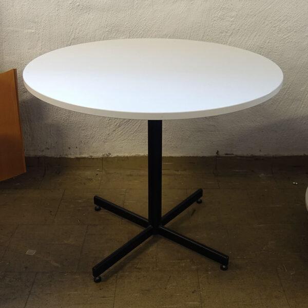 Begagnat vitt cafébord Ø90 cm