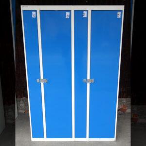 Begagnade blåa klädskåp TPG Tunnplåt för 2 personer