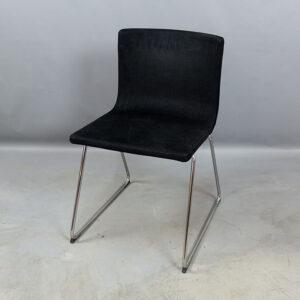 Svarta begagnade stolar