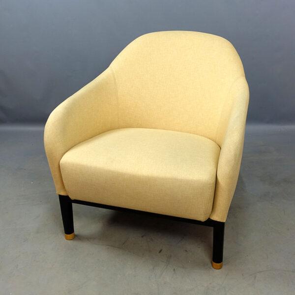 Fåtöljer Johanson Design Edith - ljusgult tyg