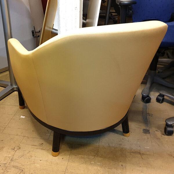 Fåtöljer Johanson Design Edith - ljusgult tyg och läder