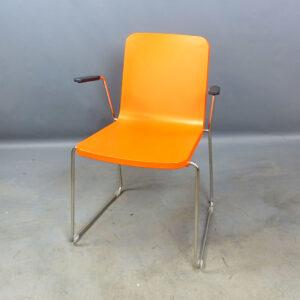 Stolar orange Skandiform Pompidoo med armstöd