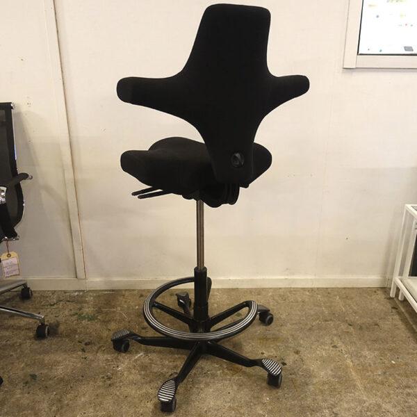 Begagnad kontorsstol HÅG Capisco hög med fotring
