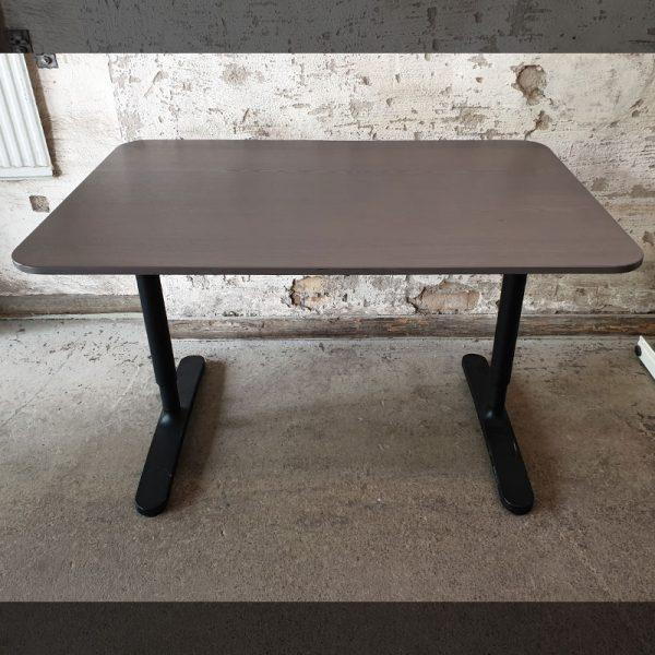 Begagnade skrivbord Bekant brun/svart 120x80 cm