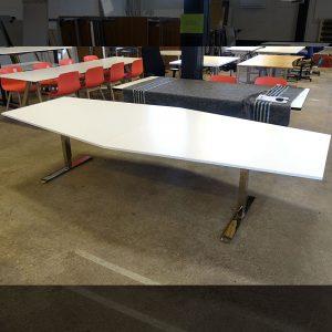 Begagnat vitt konferensbord 280x120 cm